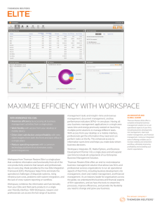 MAXIMIZE EFFICIENCY WITH WORKSPACE