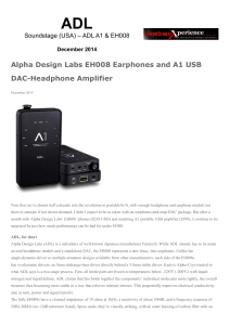 Alpha Design Labs EH008 Earphones and A1 USB DAC