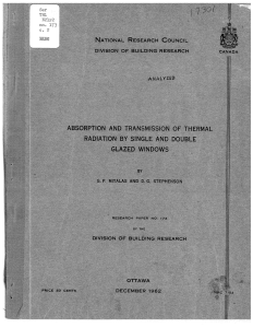Absorption and transmission of thermal radiation by single and
