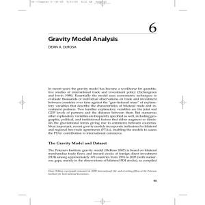Gravity Model Analysis - Peterson Institute for International Economics