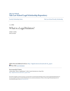 What is a Legal Relation? - Yale Law School Legal Scholarship