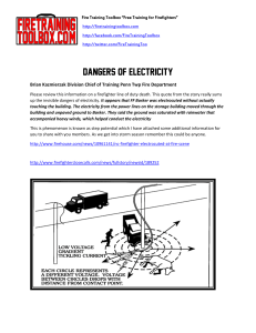Dangers of Electricity - Fire Training Toolbox