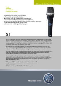 Reference Handheld Dynamic Microphone