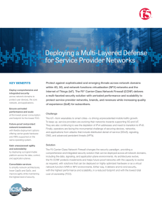 Deploying a Multi-Layered Defense for Service Provider