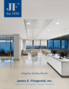 James E. Fitzgerald, Inc. Integrity, Quality, Results