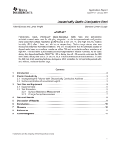 Intrinsically Static-Dissipative Reel (Rev. A)