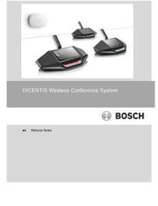 DICENTIS Wireless Conference System