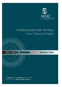 Multidisciplinary Team Working: From Theory to Practice