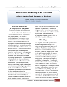 How Teacher Positioning in the Classroom Affects the On