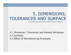 5. DIMENSIONS, TOLERANCES AND SURFACE
