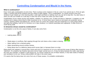 Controlling Condensation and Mould in the Home.