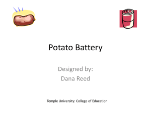 Potato Battery - Science Inquiry Picture Labs