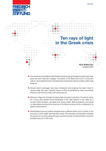 Ten rays of light in the Greek crisis - Bibliothek der Friedrich