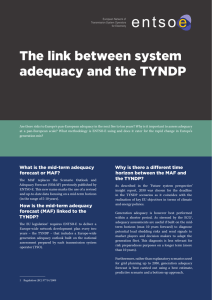 The link between system adequacy and the TYNDP - entso-e