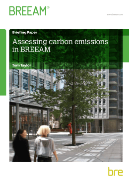 Assessing carbon emissions in BREEAM