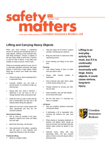Lifting and Carrying Heavy Objects