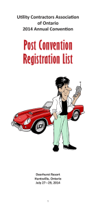 Post Convention Registration List - Utility Contractors Association of