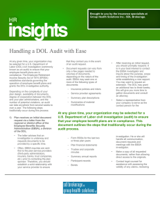 Handling a DOL Audit with Ease