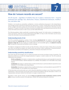 How do I ensure records are secure?