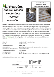 E-therm UF-500 Under-floor Thermal Insulation