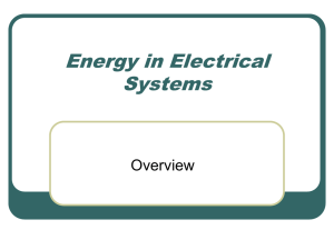Energy in Electrical Systems