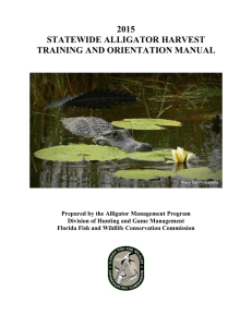 2015 statewide alligator harvest training and orientation manual