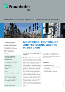 Monitoring, Controlling and Protecting Electrical Power Grids