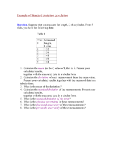 Example of Standard deviation calculation