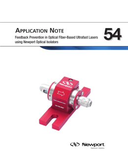 App Note 54 - Feedback Prevention with Optical Isolators