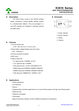 Download datasheet for k1010w by cosmo electronics corporation.