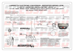 BEEDSPEED CONVERSION WIRING HARNESS LAMBRETTA