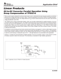 DC-DC Converters Parallel Operation Using Droop Compensation