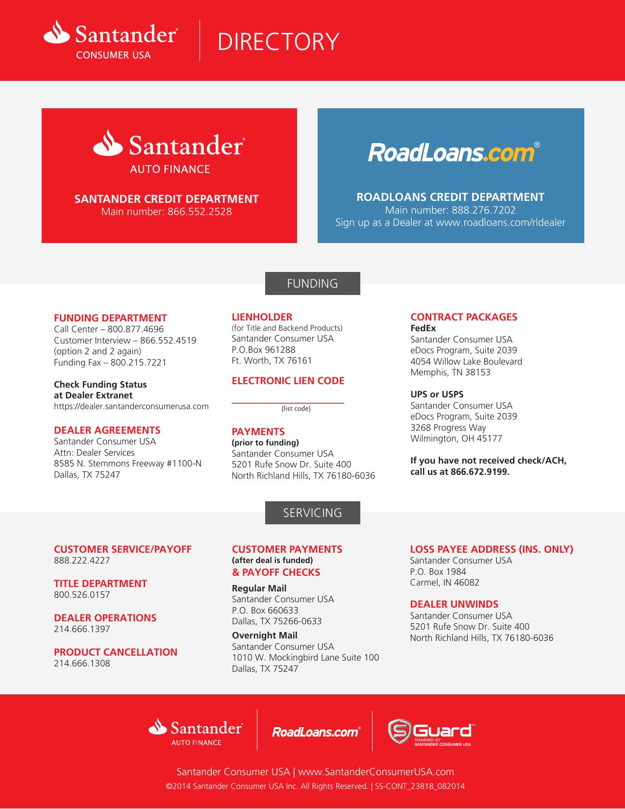 directory - Santander Consumer USA
