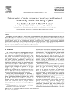 Determination of elastic constants of glass/epoxy unidirectional