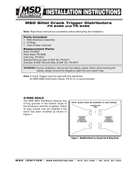 msd al ignition control msd 8489 distributor installation instructions
