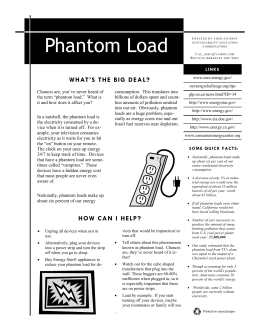 Summary Sheet - Phantom Load