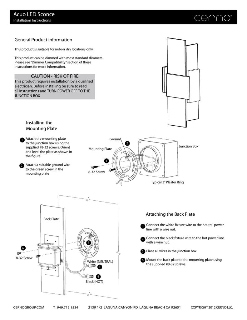 Installation Guide Wire Nut Diagram