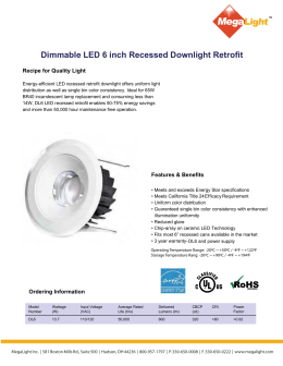 Dimmable LED 6 inch Recessed Downlight Retrofit