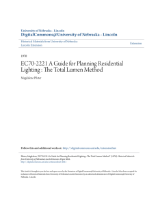 EC70-2221 A Guide for Planning Residential Lighting: The Total