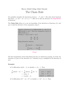 The Chain Rule - Harvey Mudd College Department of Mathematics