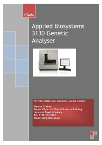 Applied Biosystems 3130 Genetic Analyser