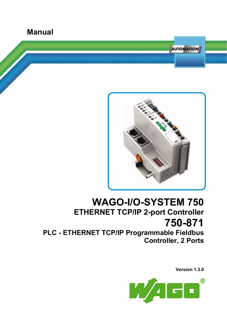 ETHERNET TCP/IP 2-port Controller 750-871