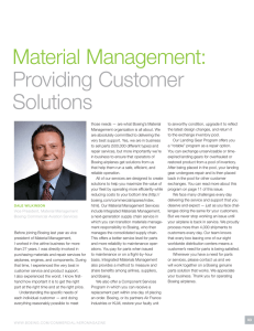 Material Management: Providing Customer Solutions