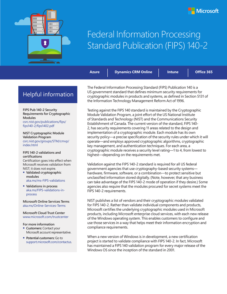 Federal Information Processing Standard Publication Fips 140 2