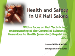 Health and Safety in UK Nail Salons