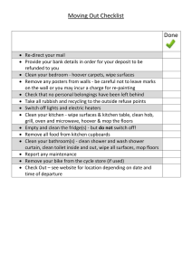 Moving Out Checklist Done