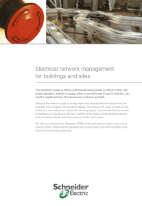 Electrical network management for buildings