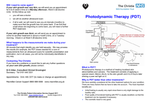 Photodynamic Therapy (PDT)