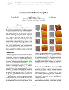 Geometry-Informed Material Recognition