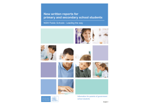 New written reports for primary and secondary school students (PDF